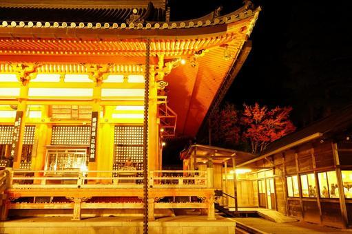 Illumination of the temple hall
