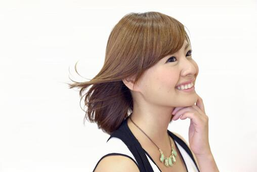 Lady female 1 hair 1