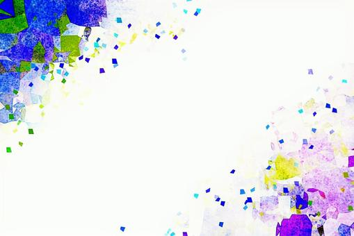 Vibrant blue and purple background material watercolor style texture frame