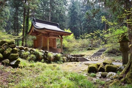 Scenery around the national treasure Haguroyama Five-story Pagoda