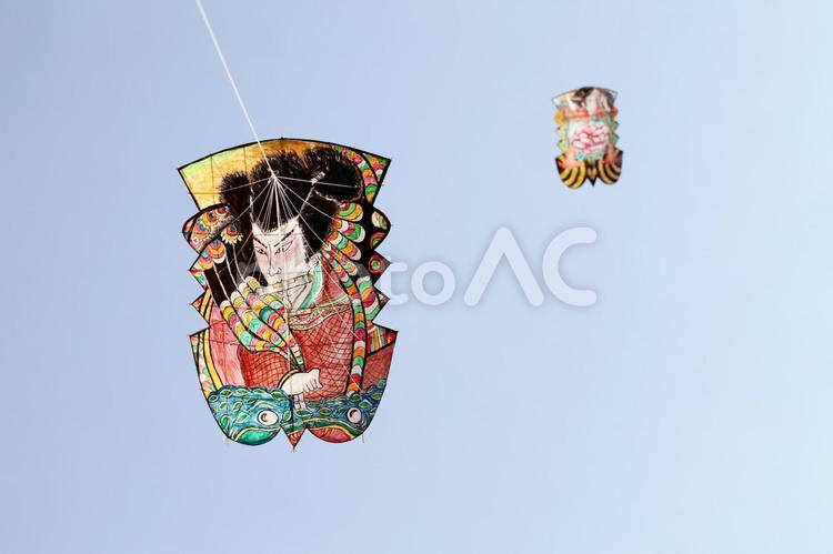凧揚げの写真