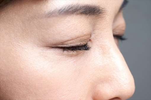 Close-up of the eyes of a middle-aged Japanese woman