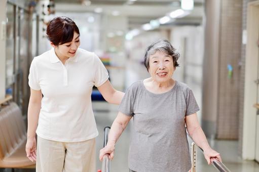 Grandmother and caregiver 15 to rehabilitate