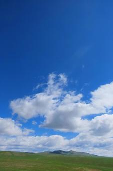 Mongolian blue sky