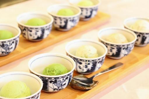 Five-tiered green tea ice cream ⑤