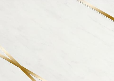 Golden ribbon and marble pattern frame material (white)