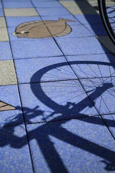 自行车阴影