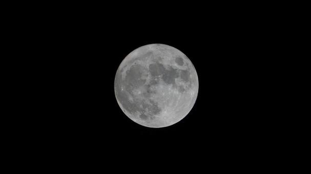 August full moon Stagen Moon Full moon photo Centered on the moon