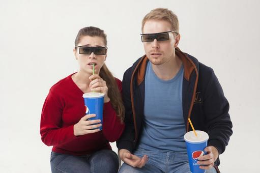 Couple seeing 3D movies 5