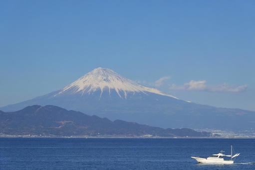 富士山とボート