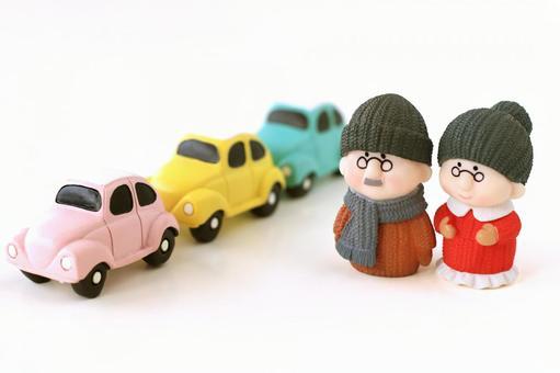 Seniors and cars