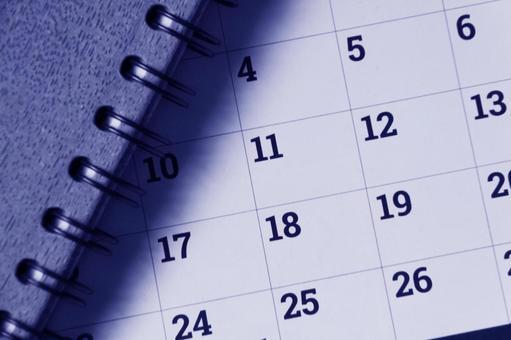 Calendar image photo blue