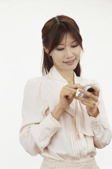 Female with mobile phone 18