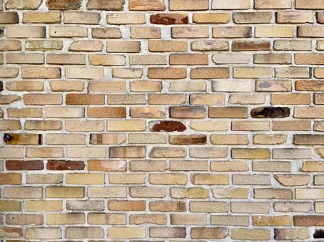 세련되고 밝은 벽돌 벽
