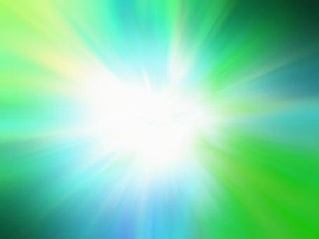 광선 - 녹색에서 청록색