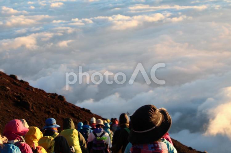 富士登山の写真