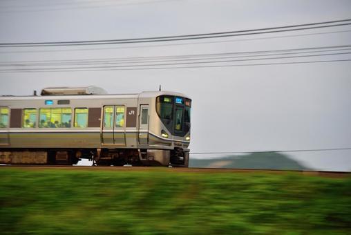 Railroad, 225 series special rapid train panning 001