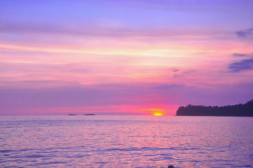 Southeast Asia Sea and the sunset 6