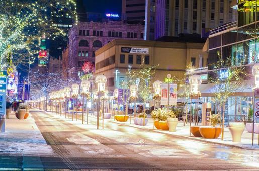 Winter street corner 14