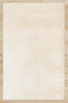 Wood grain texture and kraft paper portrait material