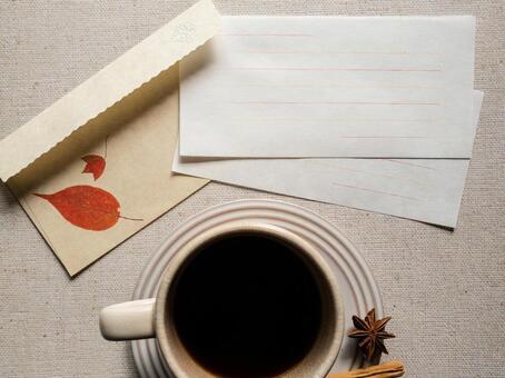 Autumn letter frame