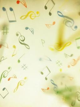 Music feel texture background material-yellow