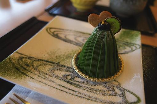 Matcha Mont Blanc I ate in Kyoto