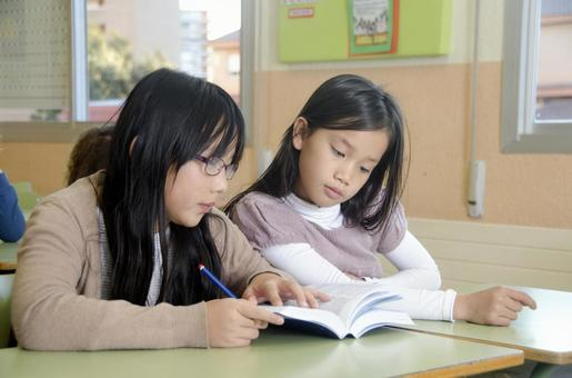 Children studying in the classroom 2
