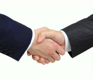 Handshake of a businessman