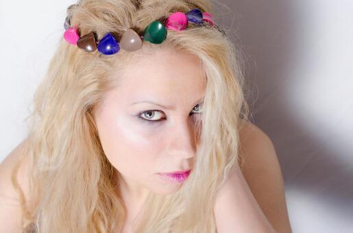 Colorful head access women