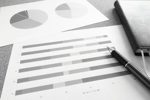 Business materials monochrome