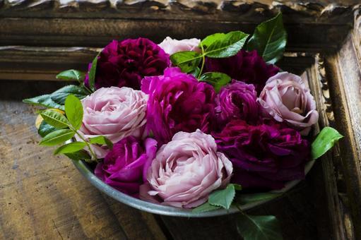 玫瑰花_相框_粉色