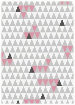 Scandinavian design gray triangle
