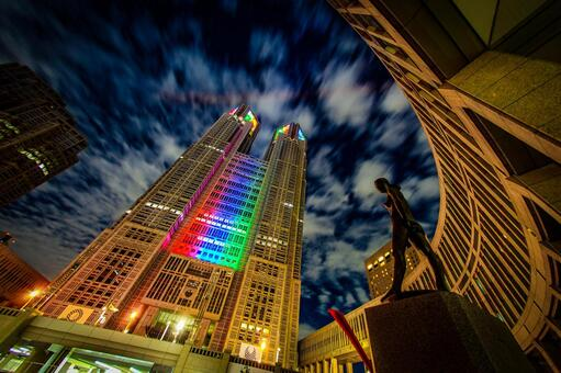 Tokyo Metropolitan Government Office (Olympic · Paralympic Color Light Up) 14