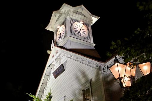 Sapporo Clock Tower, lit up