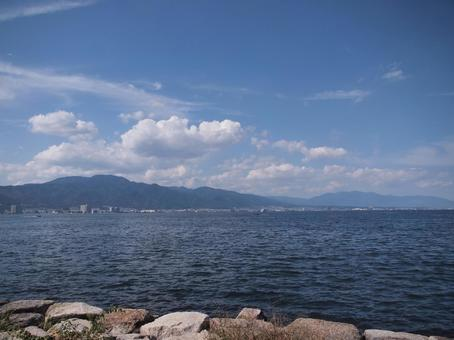 View of Lake Biwa