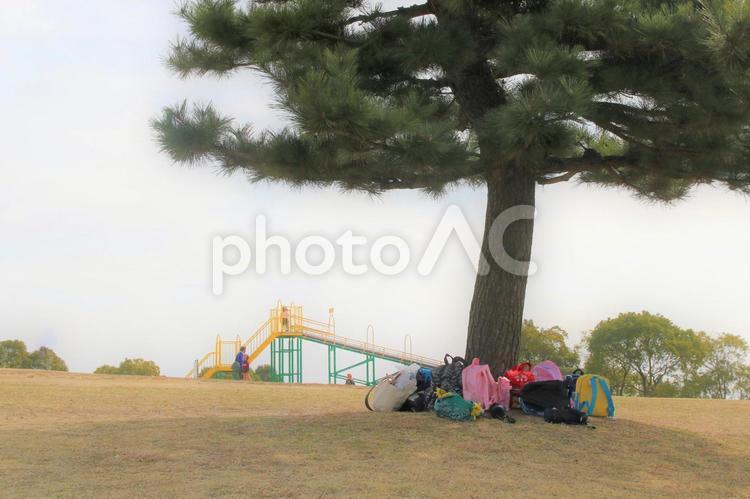 木陰の子ども用リュックサックの写真