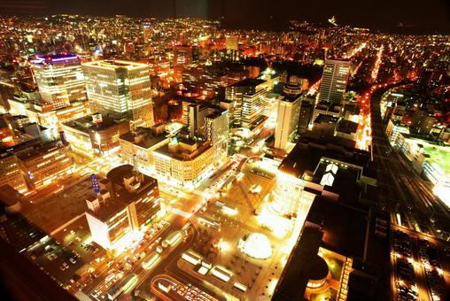 Sapporo of New Japan night view
