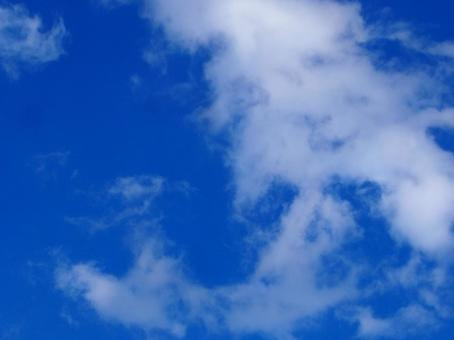 Refreshing blue sky sky photo sky background background material