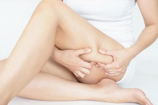 Female thigh cellulite