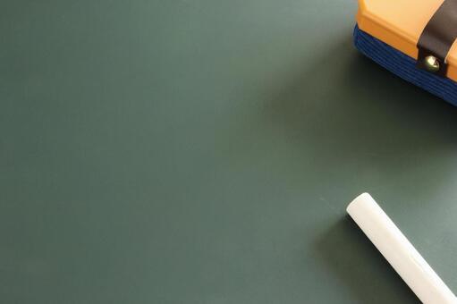 Chalk and blackboard eraser