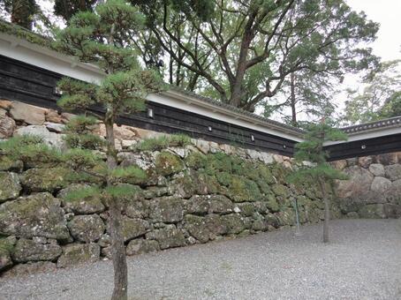 高知城3石垣及柵欄