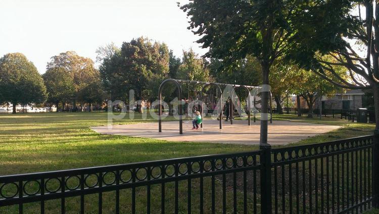 公園・アメリカの街並みの写真
