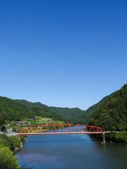 Kisogawa and Takeshi Bridge Gifu Prefecture Ena City