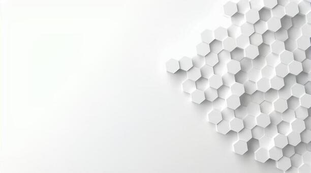 Hexagonal object background 3D illustration