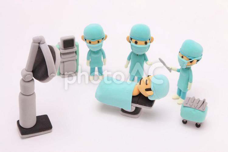 粘土人形 医者と患者3の写真
