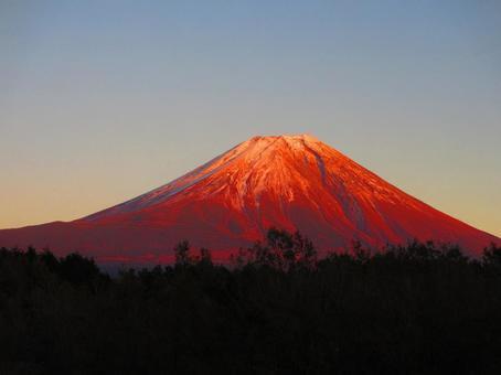 Red Fuji at the campsite