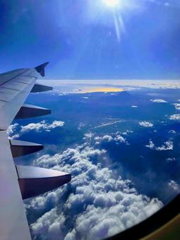 The view from the window of the plane