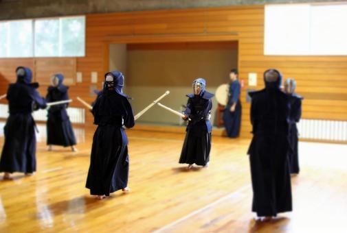 Practice scene of kendo