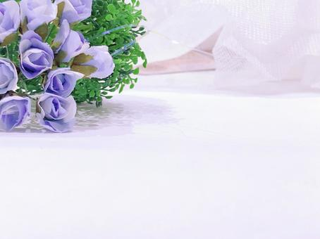 Purple rose artificial flower